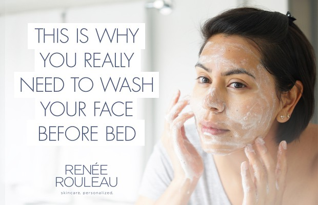 why you should wash your face at night
