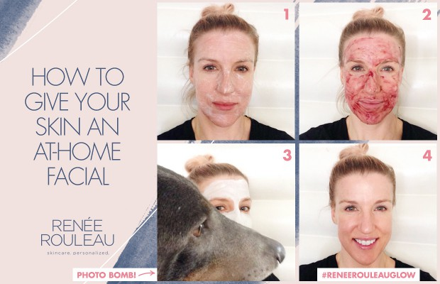 a step by step facial at home