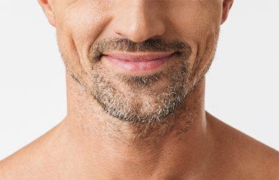 Closeup of man's beard stubble