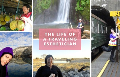 esthetician who travels