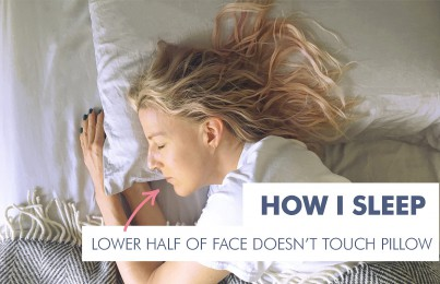 Best way to sleep to prevent wrinkles