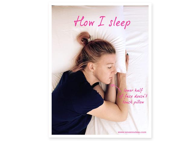 How to sleep to avoid wrinkles