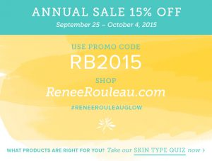 2015 Annual Sale — 15% Off All Renée Rouleau Products