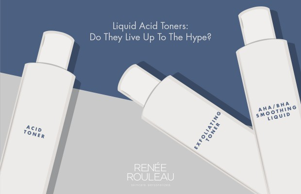 using liquid acid exfoliating toners on skin