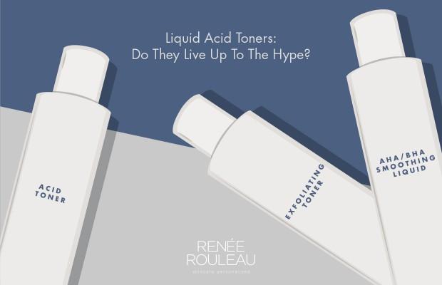 using liquid acid exfoliating toners on skin