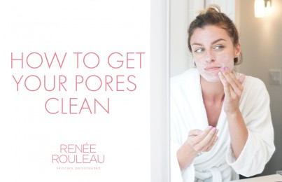 clean out clogged pores
