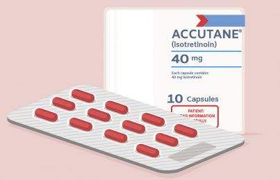 Illustration of Accutane Isotretinoin blister pack
