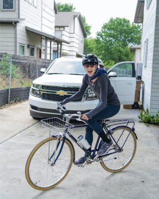 Renée Rouleau Biking